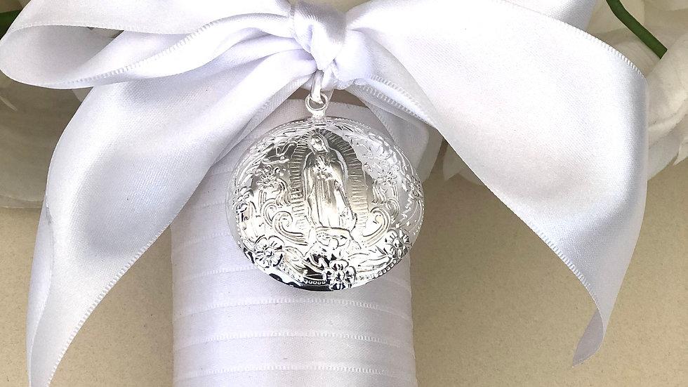 Vela con medalla Guadalupe
