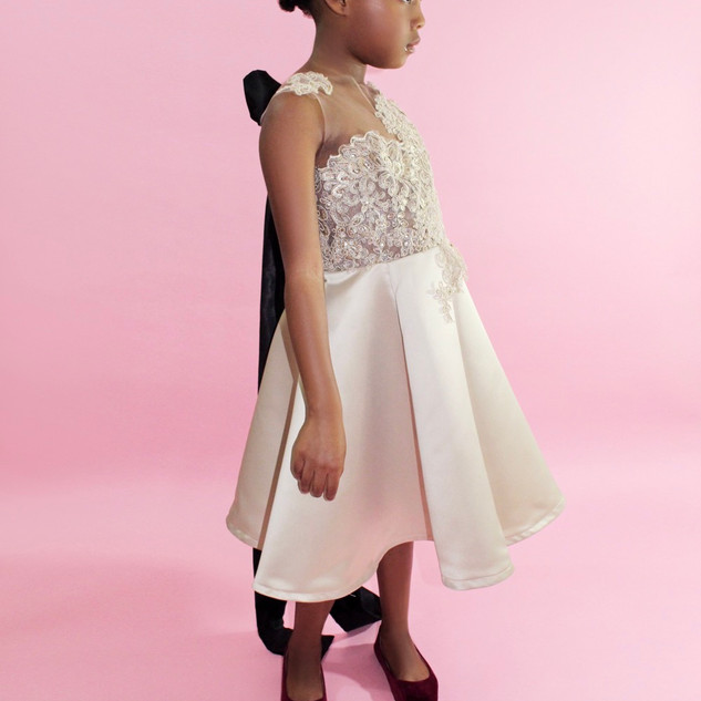 These are handcrafted designs exclusively for that mini princess. Haute Couture styled gowns that are works of art made for your work of art.