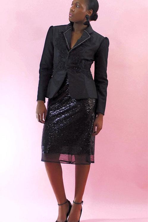 Ladies Black Fancy Blazer, Black Blazer