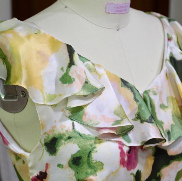 Custom Silk Dress