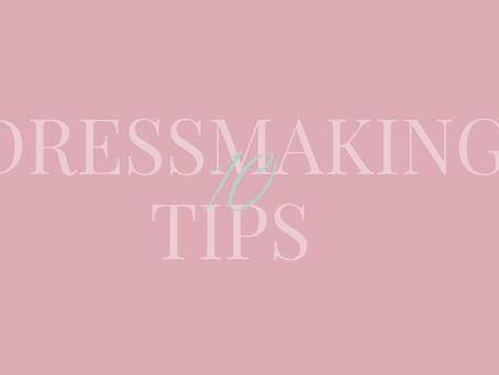 10 Dressmaking Tips
