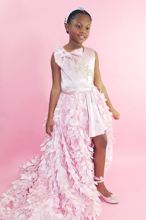 Pink Couture Gown, Special Occasion Dress, Flower girl dress