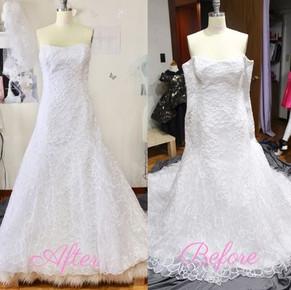 Dress size reduction