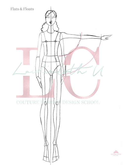 Floating Croquis, Fashion Figure Template