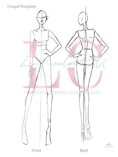 Fashion Croquis, Fashion Figure Template