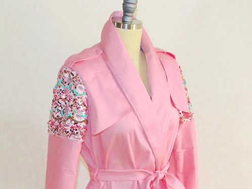 Soft Trench, Pink Trench Coat, Ladies Trench Coat