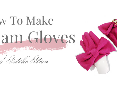 Glam Glove- DIY Wool-Felt Glove Tutorial