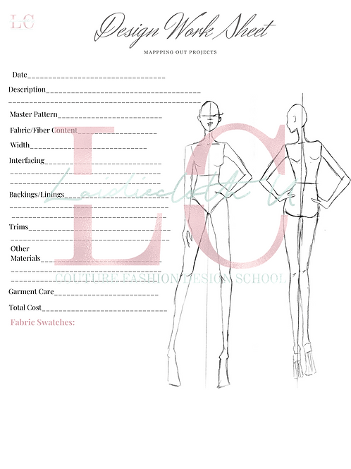Fashion Figure Templates, Design WorkSheet