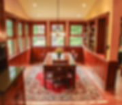 dining room, naural light, open layout, oak cabinetry, breakfast room