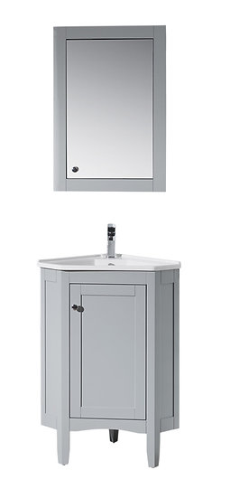 "Monte Grey 25"" Corner Vanity with Medicine Cabinet"