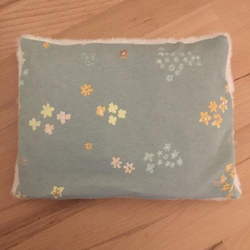 Bouillotte fleurs bleu/ gris