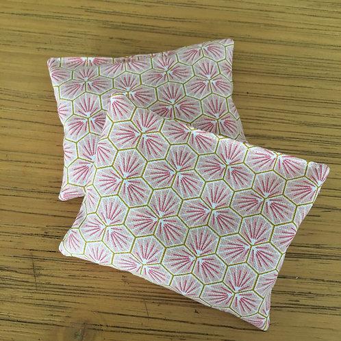 Duo de minis bouillottes fleurs rose