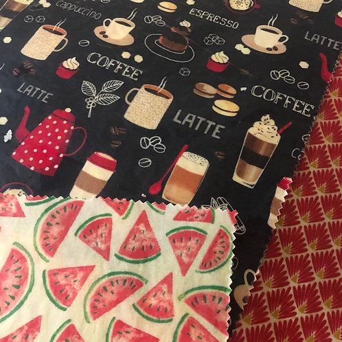 bee wrap mini 20X20 cm motif café