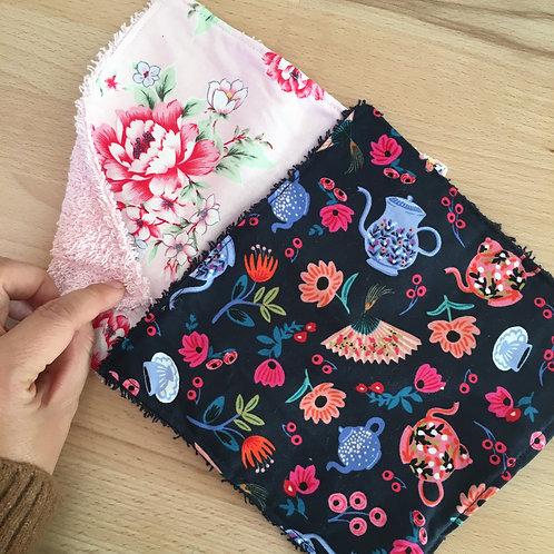 Duo de petites serviettes rose