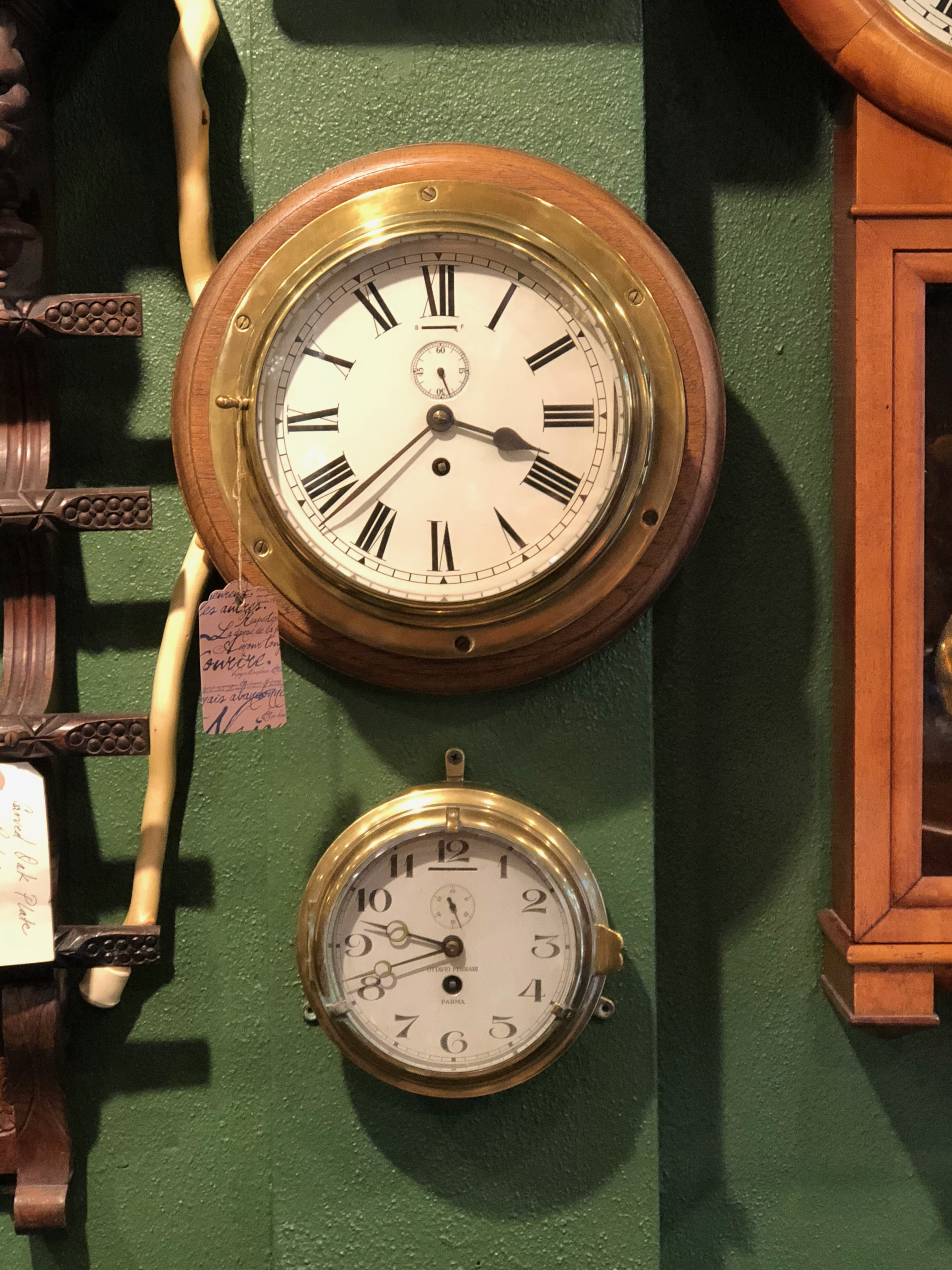 Bulkhead clocks, German & Italian