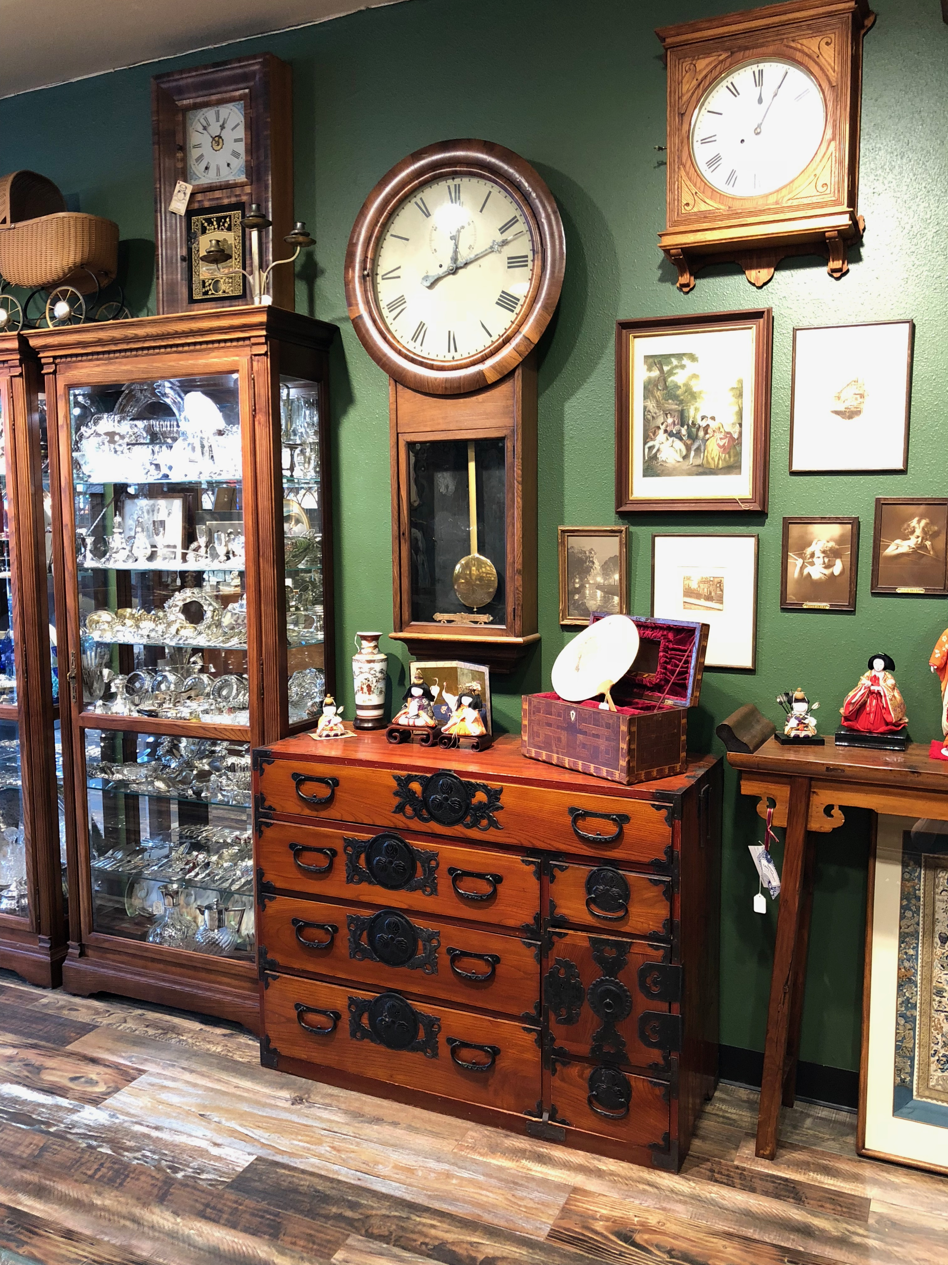 Furniture and antique clock