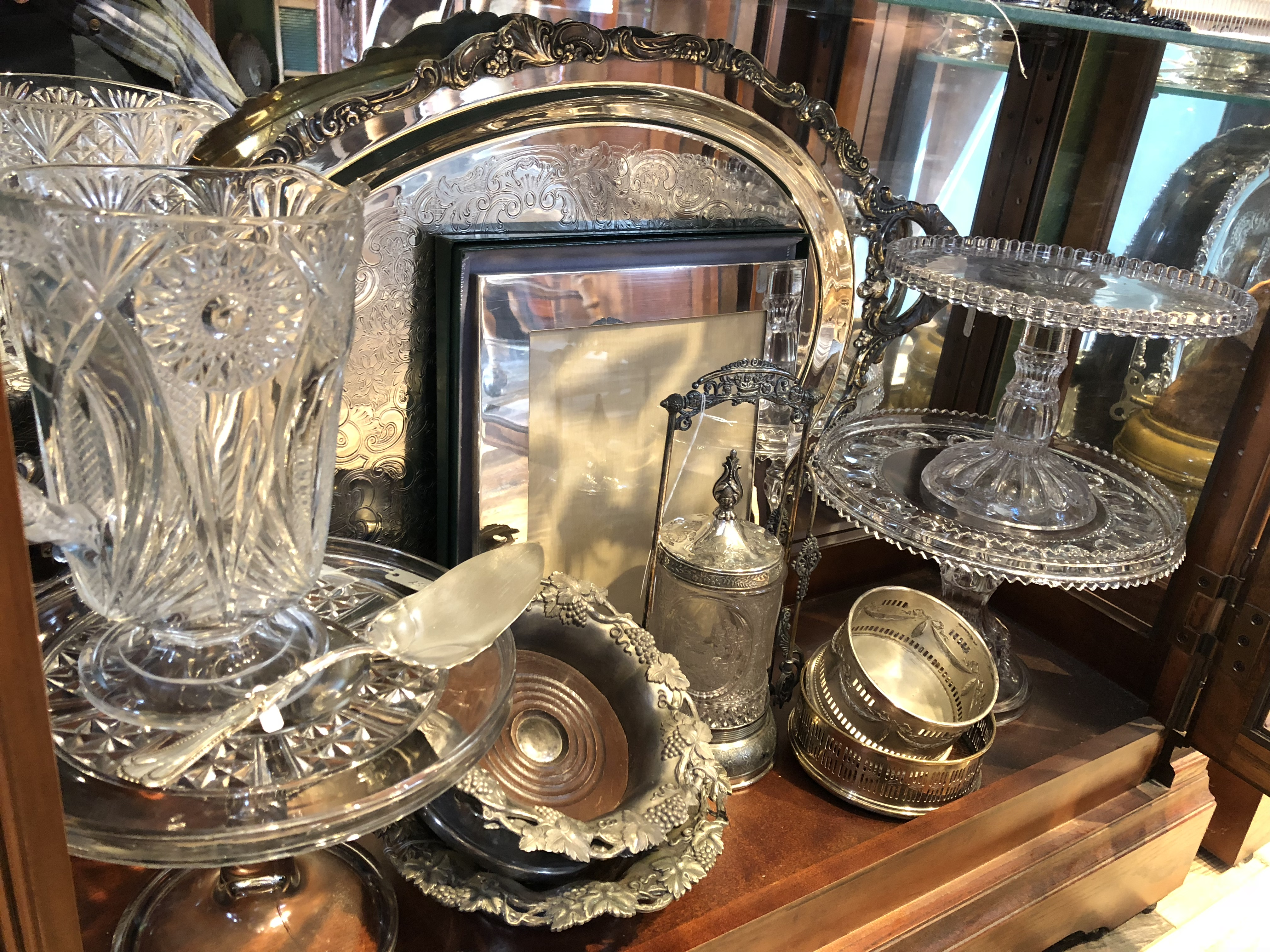 Sterling silver & cut glass