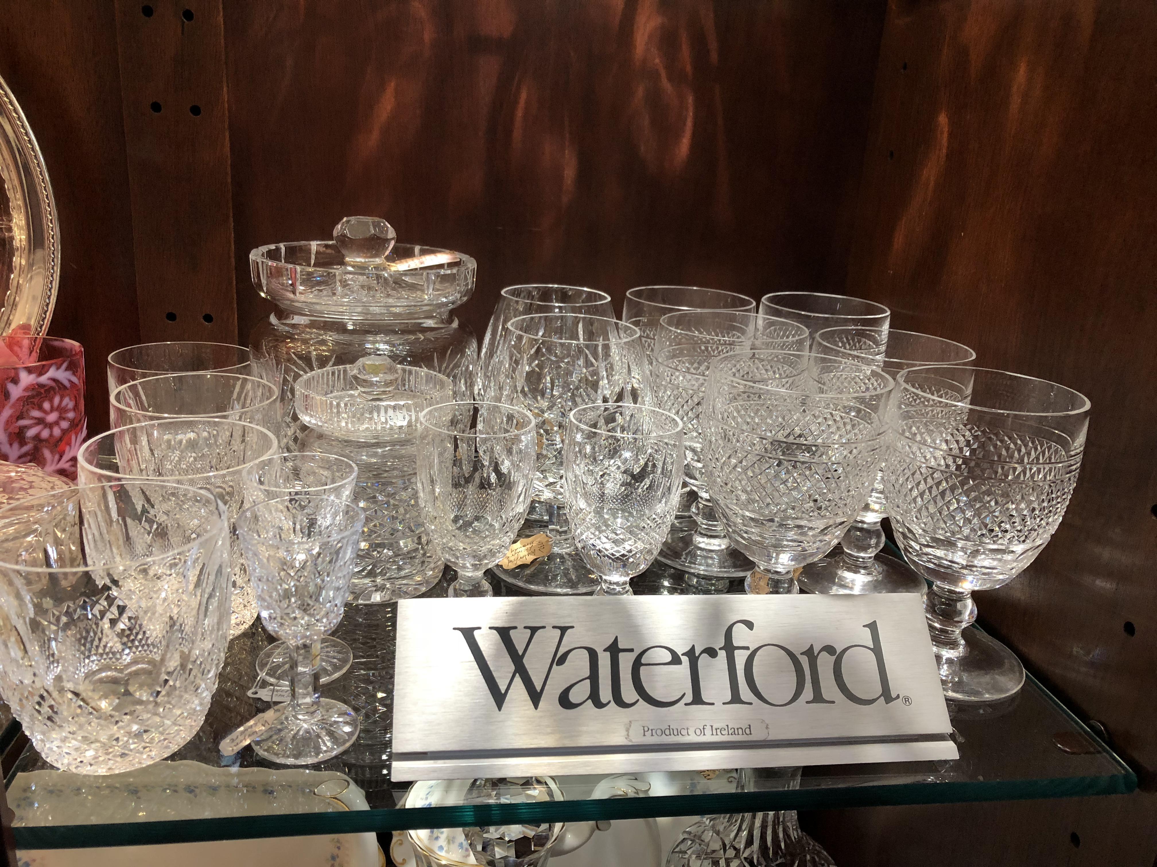 Vintage Waterford stemware