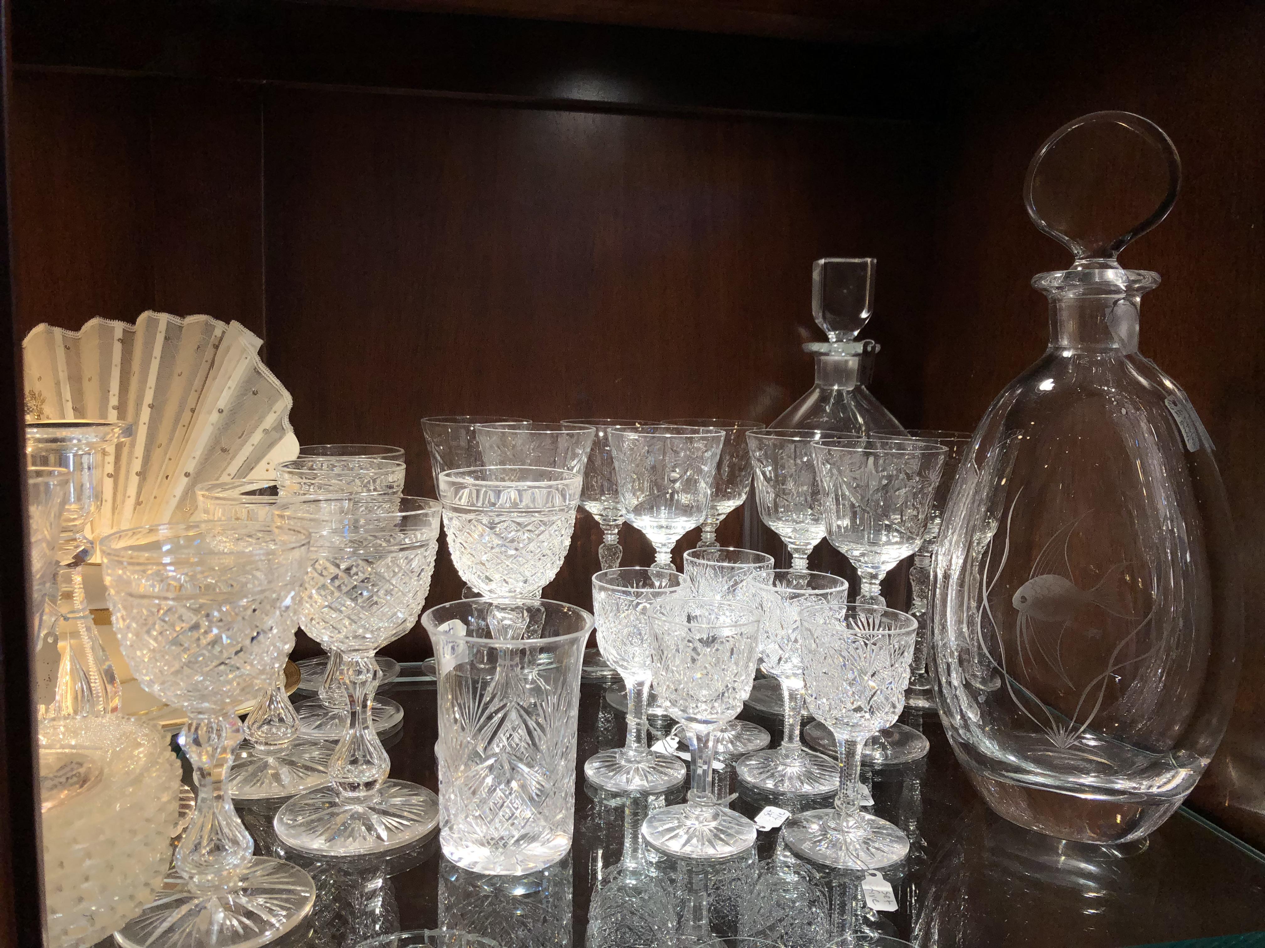 Vintage brilliant cut glass
