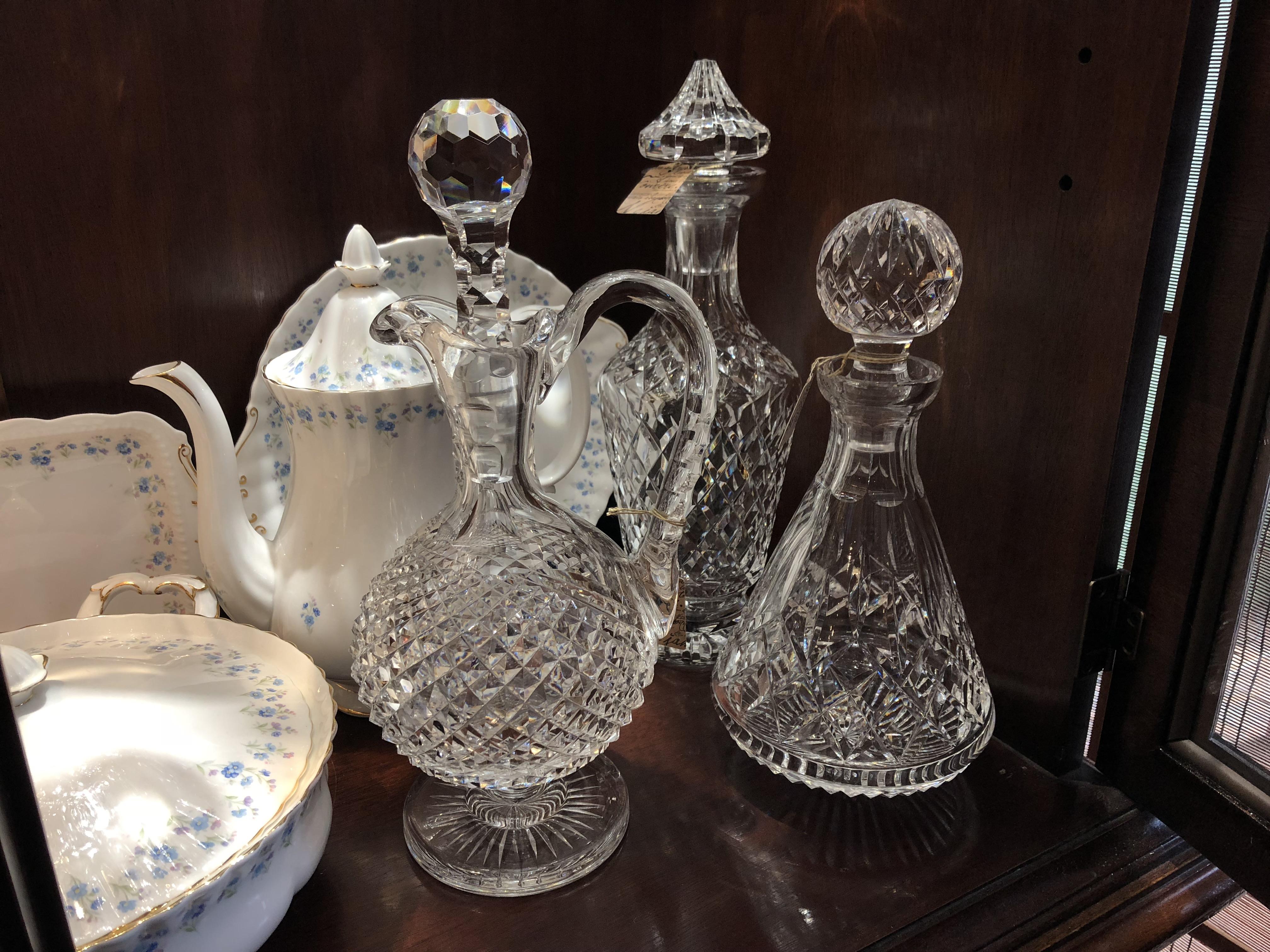 Vintage Waterford decanters