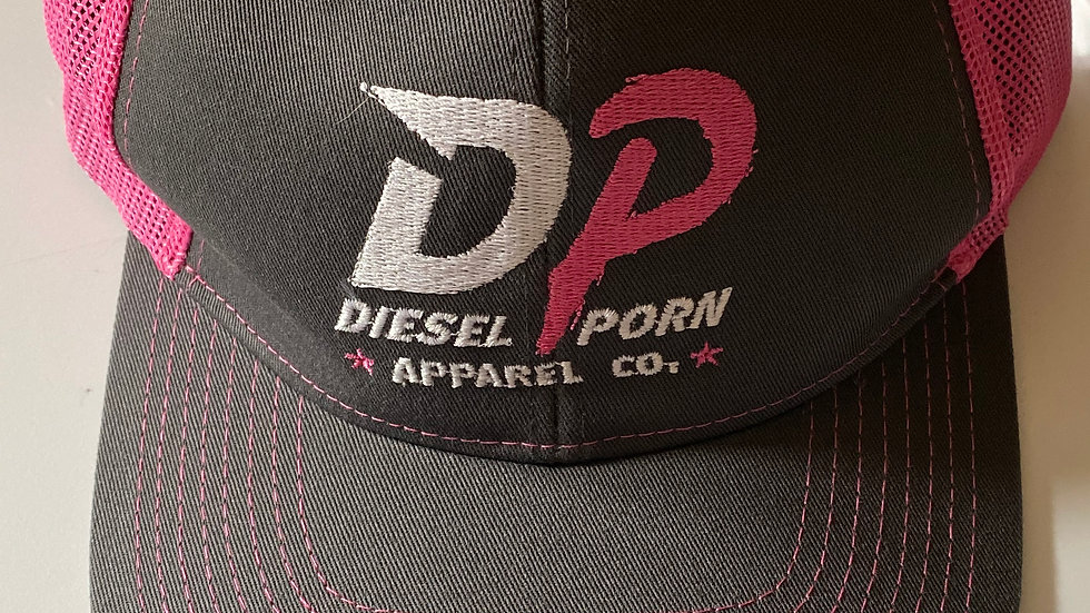 Pink Mesh Trucker Hat