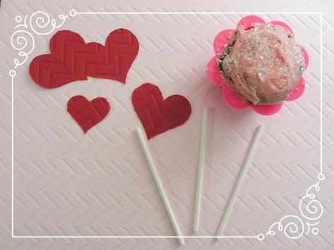 Valentine's Day Cupcake Decorations.