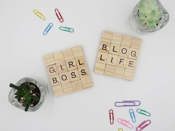 Girl boss blog life coasters
