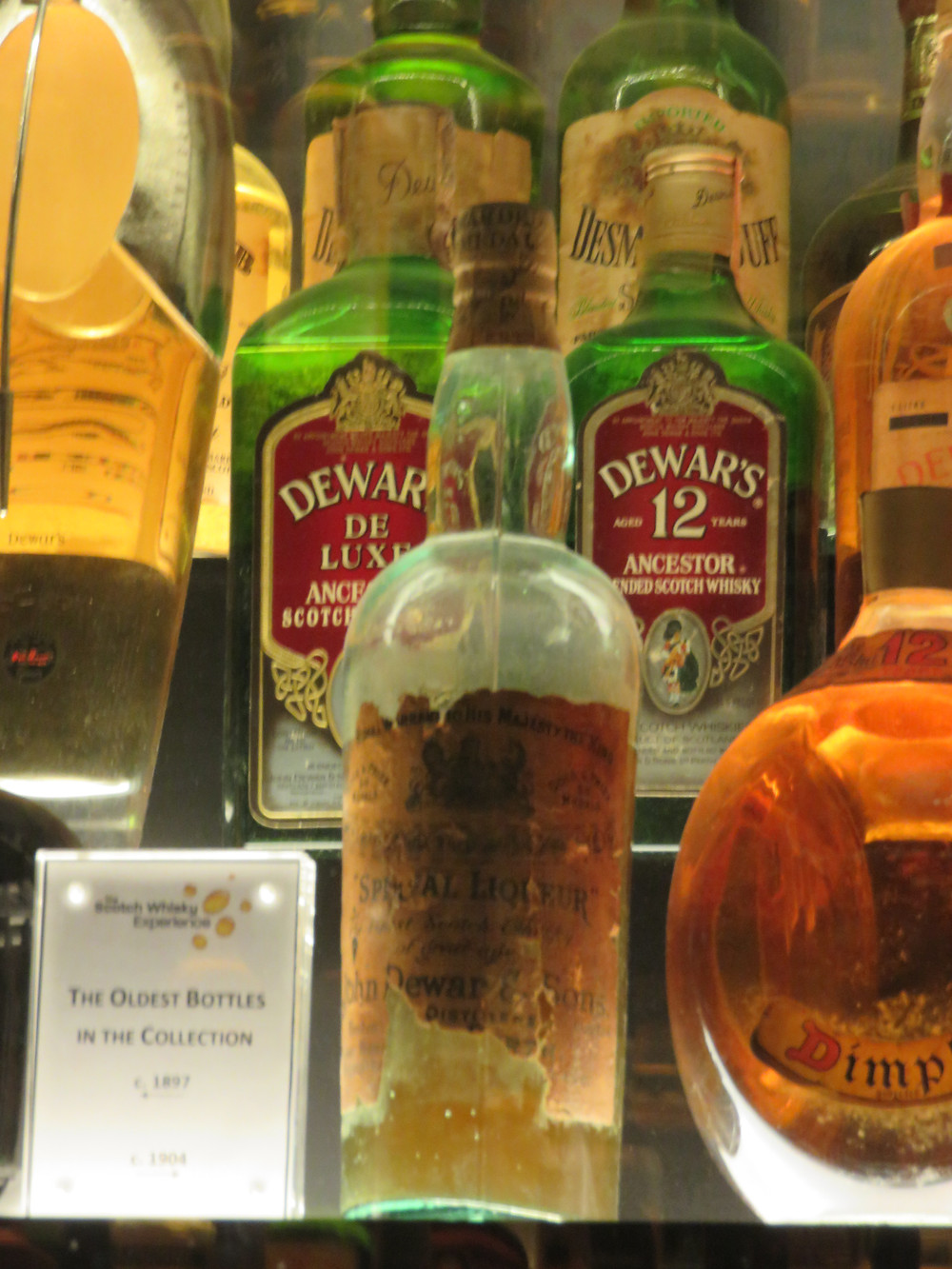 The oldest bottles in the Scotch whisky collection