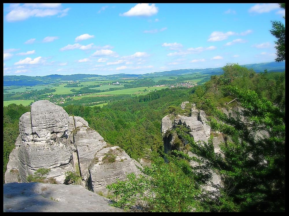 View from a mountaintop near Liberec, Czech Republic