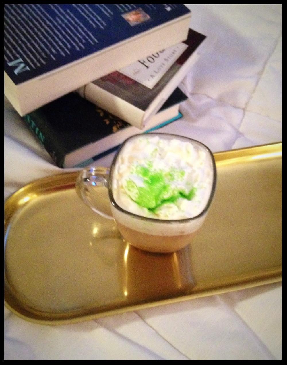 Irish coffee and books