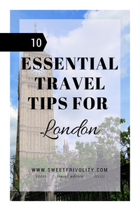 London travel tips graphic