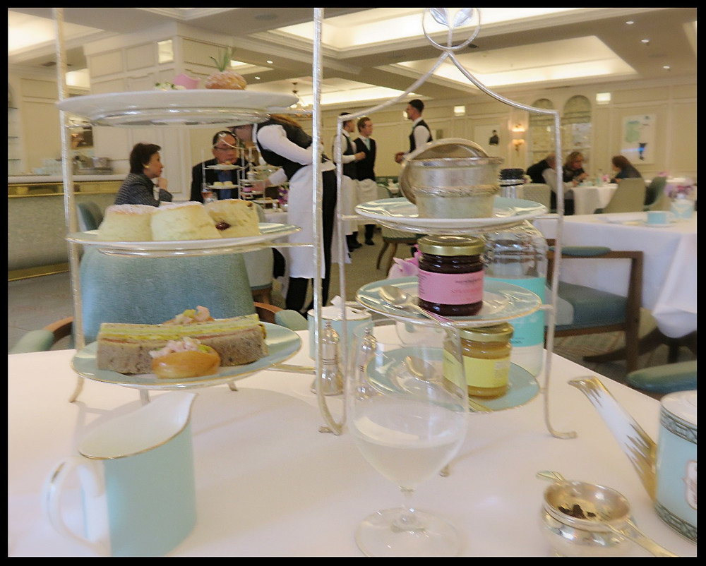 Afternoon tea at Fortnum & Mason, Picadilly Circus, London, England