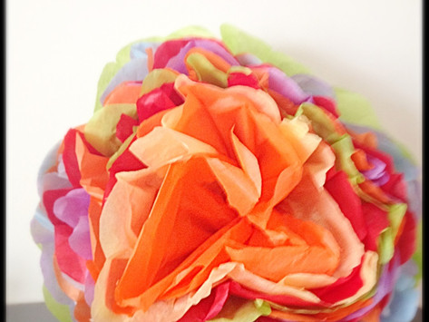 DIY Tissue Paper Flowers.