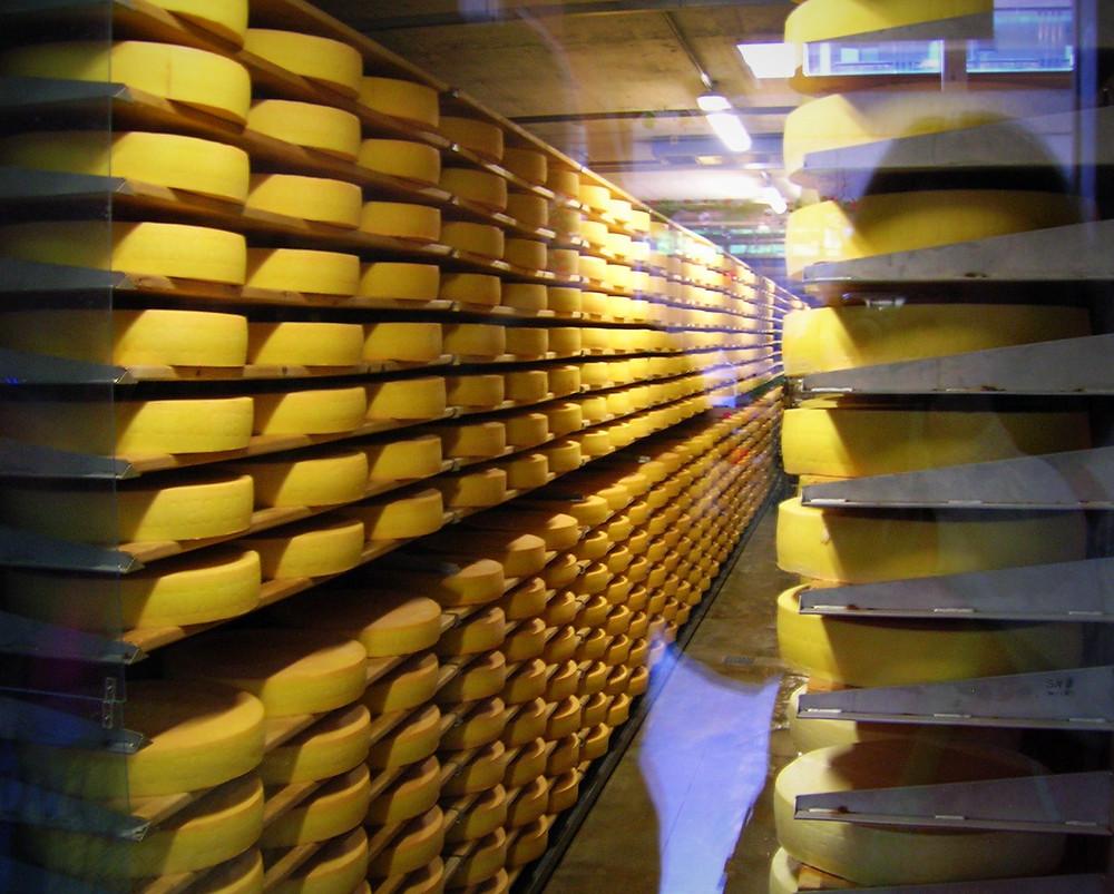 Cheese at the Maison du Gruyere, Switzerland