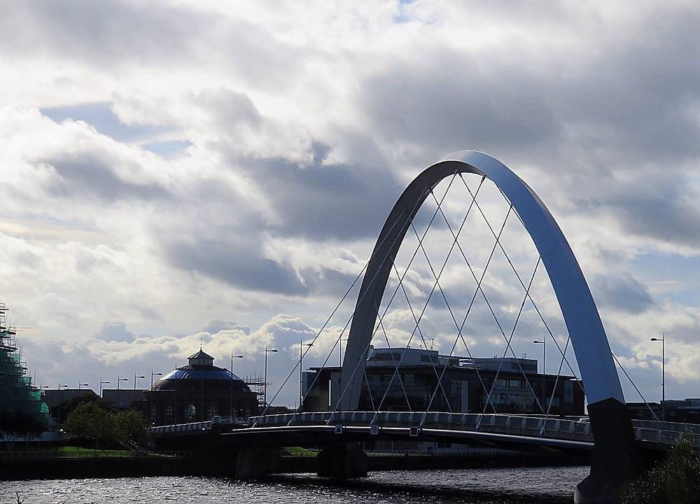 "The ""Squinty Bridge,"" Glasgow, Scotland"