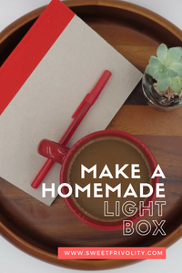 Pin for making a homemade light box