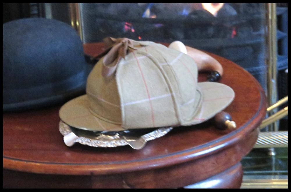Sherlock Holmes hat, 221B Baker Street, London, England