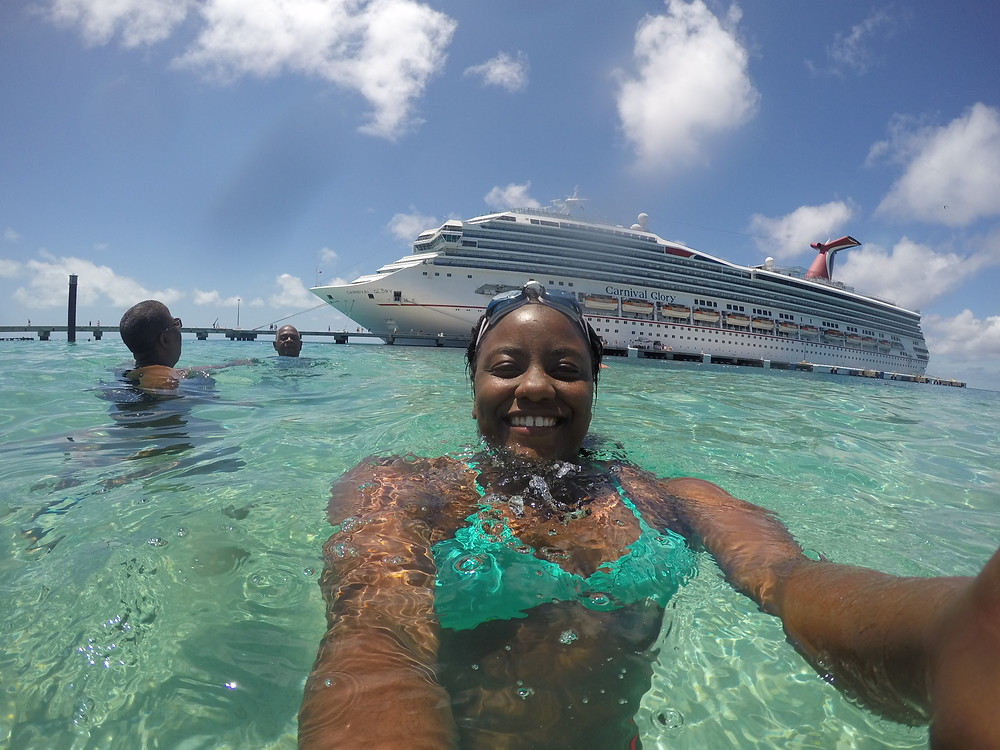 Selfie with Carnival Glory in Grand Turk