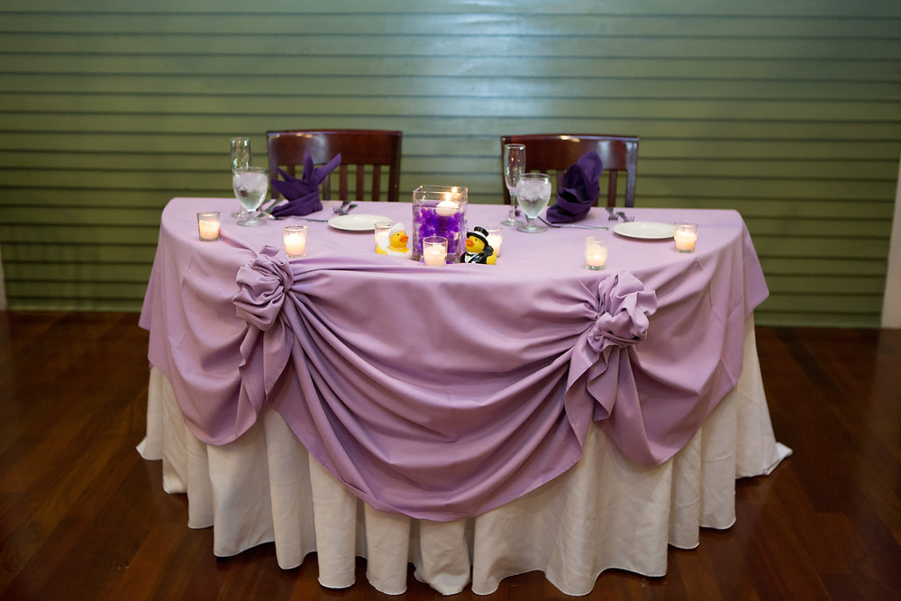 Sweethert table and wedding reception