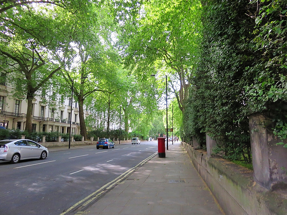 Peaceful street in Paddington, London, England