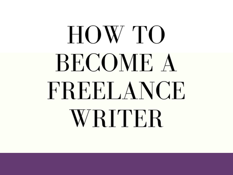 How to Become a Freelance Writer