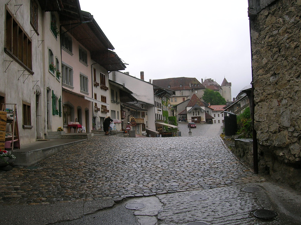 Medieval Street in Switzerland