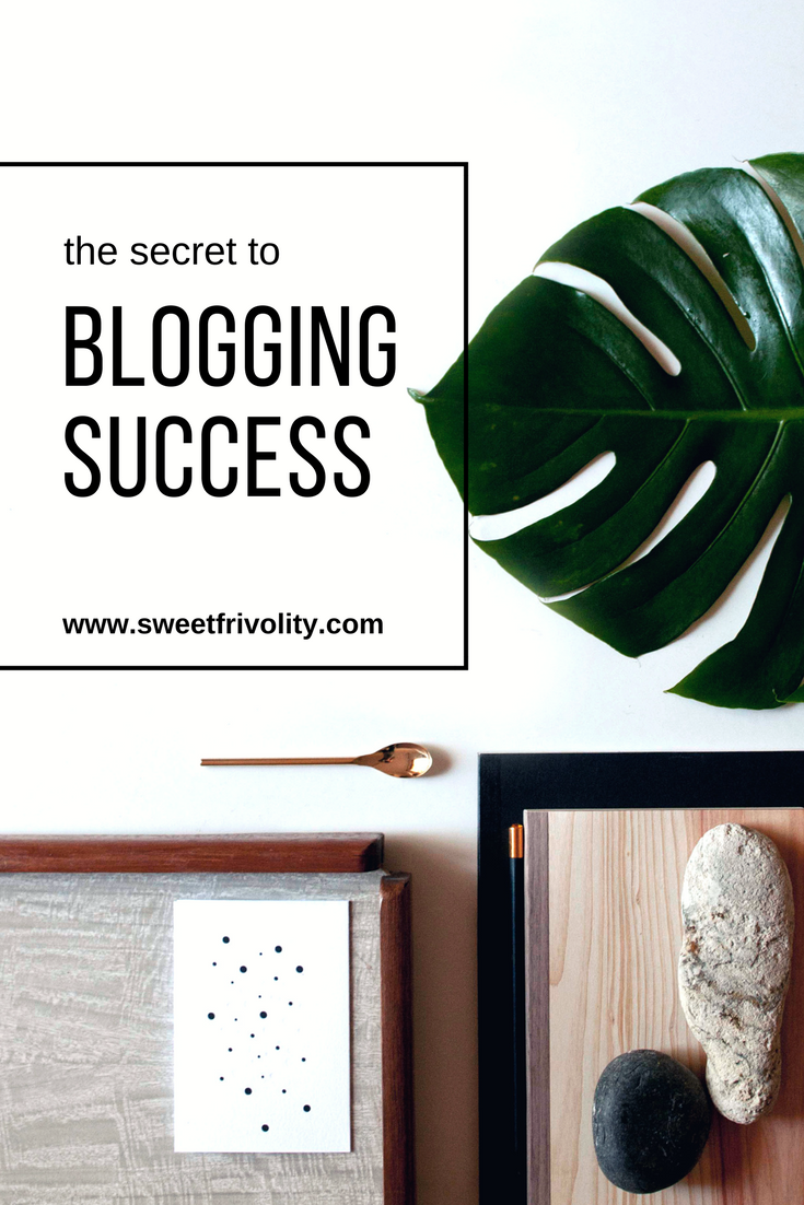The secret to blogging success pin