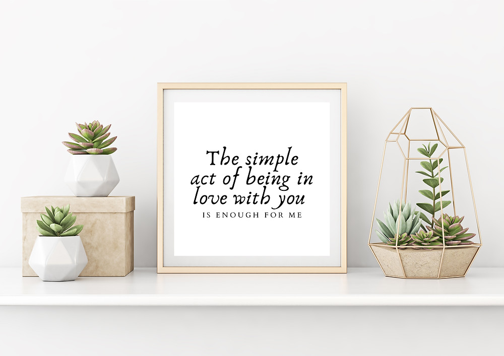 Dawson's Creek quote on printable sign in frame with plants