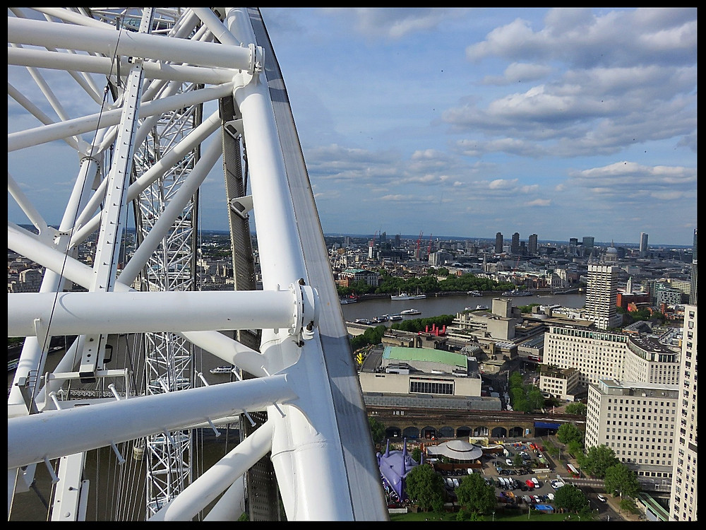 View from the London Eye, London, England