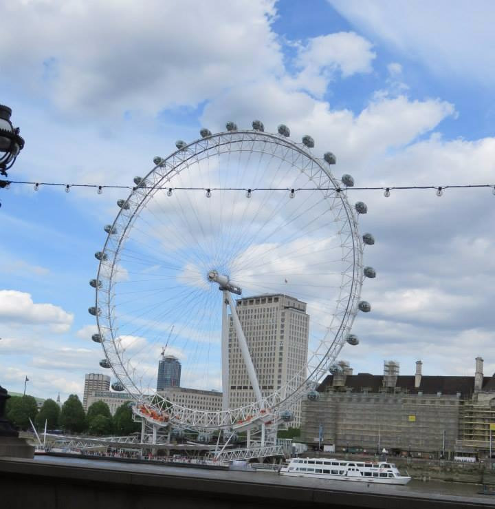 London Eye and the Thames, London, England