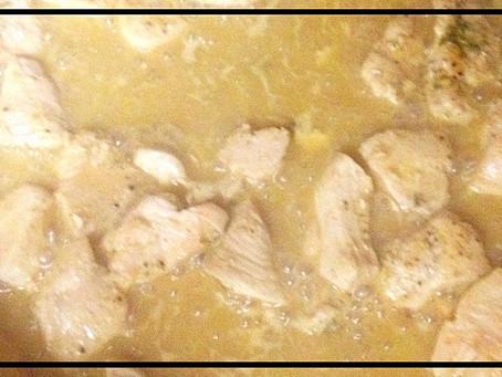 Lighter Chicken Diane and Rice.