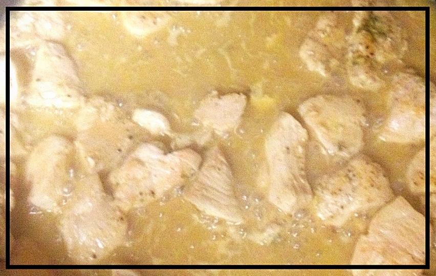Lighter Chicken Diane cooking