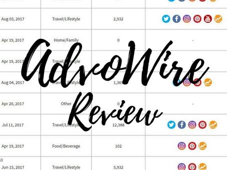AdvoWire Influencer Platform Review.