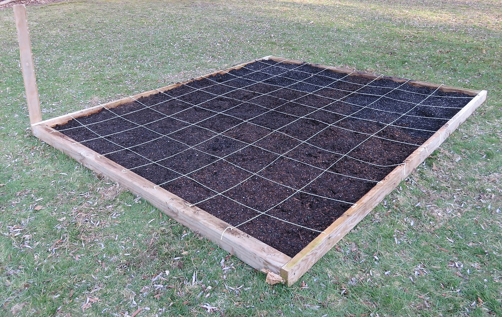 Raised bed garden construction.